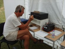 Geoff G4XMJ working the HF station