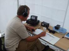 Peter G4NKX working the 2m station