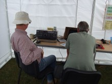 Ted G3XUX and Geoff G4XMJ at the HF station