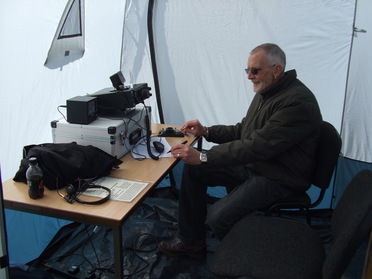 Tony M1DPJ operating the 2m Station