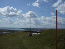 Our Antenna System looking South over Langstone Harbour