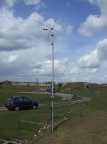 Ted G3XUX's alternative 4m antenna on the Sunday